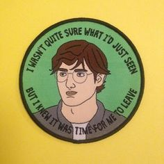 Louis Theroux iron on patch /// woven badge by NaomiHopeDesigns