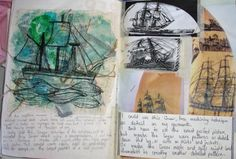 Sketchbook research by Lucy Bassett. I remember doing similar things during my A Levels. I did plenty of research on my project topic, made thumb nail sketches, paintings and drawings and experimented with various mediums. The variety and extent of mock ups i made gave me a lot of options. I miss that.