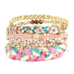 Ettika stacked bracelets -- they have so many and i love all of them, too bad they're ridiculously priced