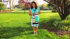 Worthington High Waist Skirt and Sleeveless Top - JCPenney #jcp #bloggers4jcpenney #jcpenney #ootd #fashionafterfifty #colorblock #geometric #pencilskirt