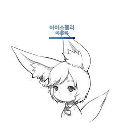 꾸엠 연필브러쉬 공유 + 예시 블소짤.jpg : 네이버 블로그