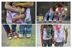 Powder Paint Fight Photoshoot