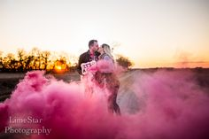 Smoke Bomb baby gender reveal, baby girl , cool ideas
