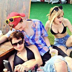 Bex Taylor-Klaus, John Karna and Carlson Young.