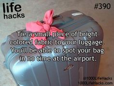 Great travel tip if your luggage looks similar to most others