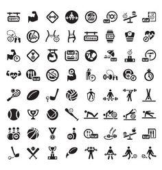 Big fitness icon set vector 1150503 - by Chistoprudnaya on VectorStock®
