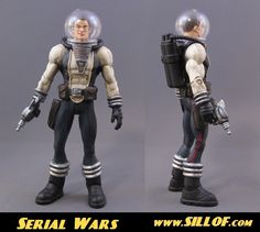 SILLOF's WORKSHOP: SERIAL WARS - a line in the style of retro sci-fi serials of the 1940's