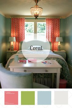 Coral is bright, beachy and pairs well with neutrals and other summery colors like aqua. Vote for your favorite color palette at HGTV.com. >> http://www.hgtv.com/design/packages/color-vs-color/vote-for-your-favorite-color-palette?soc=pinterest