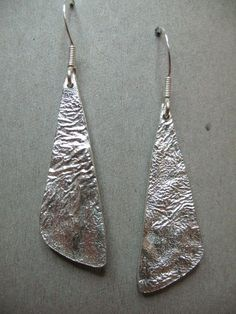 Sterling silver long triangle earring - Clare Hawley