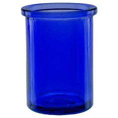 Couronne Co   Candle Containers   6oz Cobalt Blue Round Candle Container