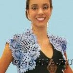 Болеро из крупных мотивов Knitting, Lace, Tops, Women, Fashion, Moda, Tricot, Fashion Styles, Breien