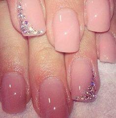 rhinestones Nails