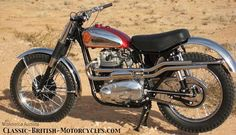 OFF-ROAD RACER - 1963 BSA ROCKET GOLD STAR This was the end of pre-Unit BSAs & an amalgam of parts: 650cc twin engine out of a pre-unit A10 Rocket, shove it into a modified Gold Star single frame - a Rocket 650 engine/Gold Star frame hybrid. It ran great... for one year. By 1963, BSA & Triumph converted to unit construction engines & new frames, ending the pre-unit A10 engines and the supply of frames. Why did BSA go to all the trouble? These gorgeous machines are hoarded by collectors.
