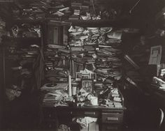 "Josef Sudek: Labyrinth in my Atelier, 1960 ""Sudek's pictures often play on the lower tones of the photographic scale, full of mystery and darkness. He was not afraid to produce prints with a very..."
