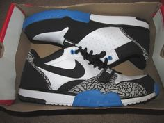 Nike Air Trainer 1 Low St Mens Training Shoes 15 White Black Blue 637995 102 #Nike #RunningCrossTraining