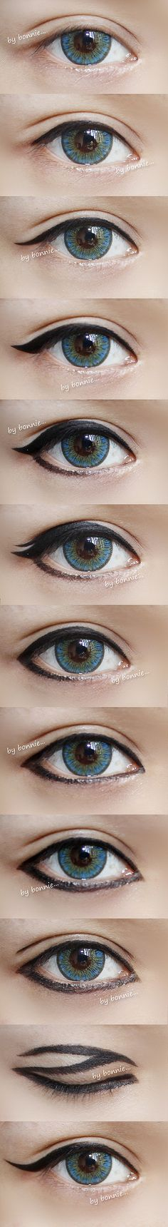 Different types of eyeliner #eyes