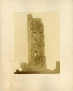 Félix Jacques Moulin, Algérie, Ruines du Minaret de Mansoura     #Afrique_Africa #Algérie