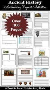 I first found Notebooking Nook because of these pages. We were using Mystery of History Volume 1 and these fit perfectly. Freebies: Ancient History Notebooking Pages & Activity Pages That has been many years ago, and I still return for great things to use with our studies.