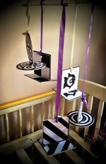The Not So Secret Musings of a Mum: DIY Project: Black & White Baby Mobile Tutorial