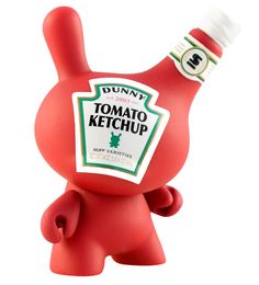 Sketchup Dunny by Sket One. Ketchup Dunny Vinyl Toy from Kidrobot Series Dunny 2010 Toy Art, Vinyl Toys, Vinyl Art, Ketchup, Art Jouet, Origami, Robots For Kids, Designer Toys, Vinyl Figures