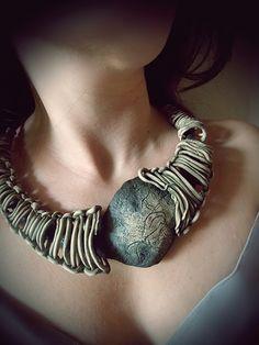 Necklace | Sona Grigoryan.  Polymer clay