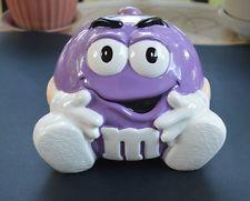 Rare Purple M & M Cookie Jar Ceramic Cookie Jar, Cookie Jars, Cookie Containers, Sweet Cookies, Cute Cookies, Teapot Cookies, All Things Purple, Purple Stuff, Purple Kitchen