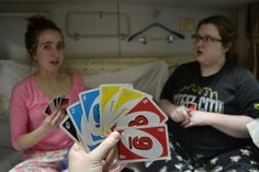 Emily C. '15, Madison S. '15, and Chandler S. '17 play UNO during the overnight train ride from Beijing to Xi'an.
