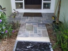 How to paint a faux slate walkway or steps