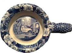 """Ralph & James Clews 15 inch bed pan printed with """"Doctor Syntax Mistakes A Gentleman's House for an Inn."""""""