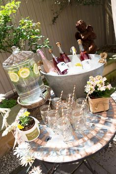 garden party cocktail table