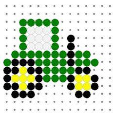 Kleiner Traktor aus Bügelperlen