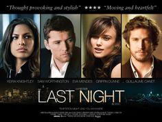 一夜迷情 Last Night (2011) UK Poster Quad  Sam Worthington, Keira Knightley , Eva Mendes and Guillaume Canet