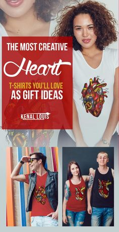 The Most Creative Heart T-Shirts Design You'll Love As Gift Ideas Heart Artwork, Creative Birthday Gifts, Cool Graphic Tees, Human Heart, Heart Shirt, Queen, Art Blog, Unique Art, Art Direction