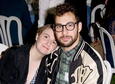 Lena Dunham and musician Jack Antonoff attend The Rape Foundation's annual brunch at Greenacres, The Private Estate of Ron Burkle on October 4, 2015 in Beverly Hills, California.