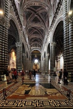 Duomo (Siena Cathedral) - Siena, Italy by Batistini Gaston. It was pouring on the day we were to go to Siena and we opted out. Places Around The World, Oh The Places You'll Go, Places To Travel, Places To Visit, Around The Worlds, Travel Destinations, Travel Things, Beautiful Buildings, Beautiful Places
