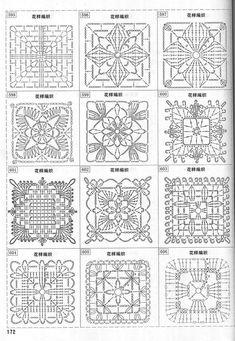 Transcendent Crochet a Solid Granny Square Ideas. Inconceivable Crochet a Solid Granny Square Ideas. Crochet Motif Patterns, Crochet Blocks, Granny Square Crochet Pattern, Crochet Chart, Crochet Squares, Crochet Granny, Filet Crochet, Thread Crochet, Granny Squares
