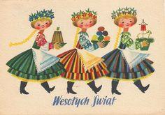 Polish Easter cards via Garaż ilustracji książkowych blog.
