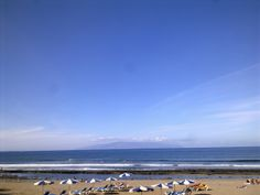 Playa Honda, Américas, con la Gomera de fondo