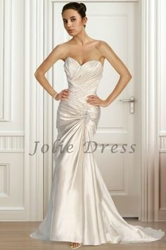 The Pleated Bodice With Sweet Heart Neckline Bridal Gown