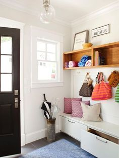 Small-Space Mudroom Solutions | Home Remodeling - Ideas for Basements, Home Theaters & More | HGTV #hometheatertips