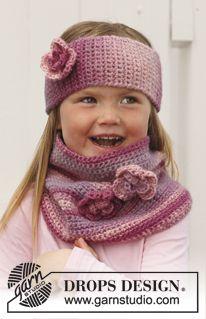 "Crochet DROPS head band and neck warmer in ""Big Delight"". ~ DROPS Design"