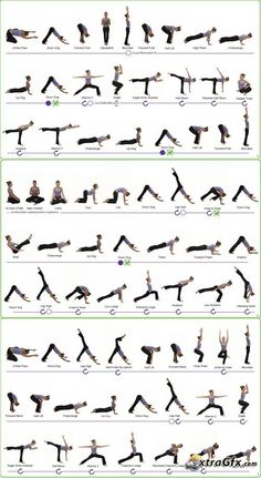 Yoga Asana Sequence Charts: