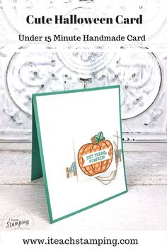 Today I am sharing some adorable Stampin' Up! Fall cards with lots of tips on how to get great card texture to make your projects pop. Fast, easy and uses up your scraps - come check out my handmade fall card ideas! Cute Halloween, Halloween Cards, Fall Cards, Free Paper, Stamping, Card Ideas, Card Making, Paper Crafts, Place Card Holders