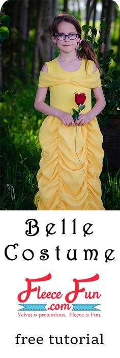 This easy to make Belle Costume is fast and perfect for you little one. Beginner friendly it's perfect for Halloween. Great Sewing Project DIY. Belle Costume Tutorial Beauty and the Beast