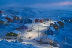 Upernavik is a fishing village on a tiny island in west Greenland. (Photo: Chu National Geographic Travel Photo Contest) Now THIS is SNOW! National Geographic Photo Contest, National Geographic Photography, National Geographic Travel, Microscopic Photography, Photography Competitions, Photography Awards, Photo Competition, Fishing Villages, Photo Projects