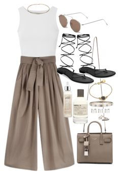 """Untitled #14"" by thesaintcecilia ❤ liked on Polyvore featuring Glamorous, Tome, Yves Saint Laurent, Michael Kors, Illesteva, Le Labo, philosophy, Marc by Marc Jacobs, Topshop and Maison Margiela"