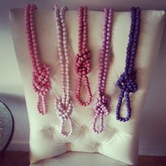 Beautiful rope necklaces