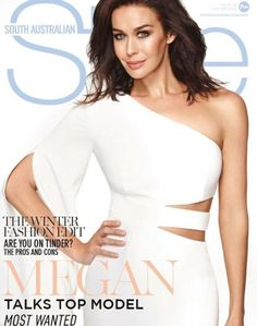 Treading carefully: Speaking with SA Style Magazine, model Megan Gale said she is 'considerate' on social media and how much she chooses to share, because she knows how an online audience can be