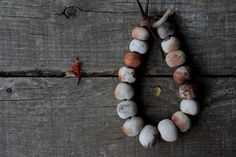 Rased from ashes pit fired ceramic necklace tribal by LAccentNou, $145.00