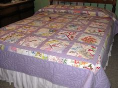 Crazy Quilt from antique hankies by elaine80 from the quiltingboard.com